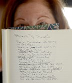 Poet Valerie Bacharach holds a weekly poetry writing session for recovering addicts.