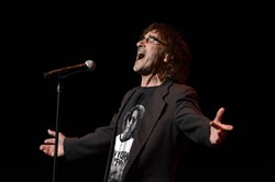 "Donnie Iris sings ""Love Is Like A Rock"" at Pittsburgh Rockin' Reunion at the Benedum Center, which brought together Lou Christie, Jimmy Beaumont & The Skyliners, The Marcels, Chuck Blasco's Vogues and Jimmie Ross and The Jaggerz."