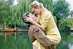 "Callum Turner and Vanessa Kirby in ""Queen and Country."""