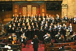 The Bach Choir of Pittsburgh will perform in St. Nicholas Greek Orthodox Cathedral on Saturday and Sunday.