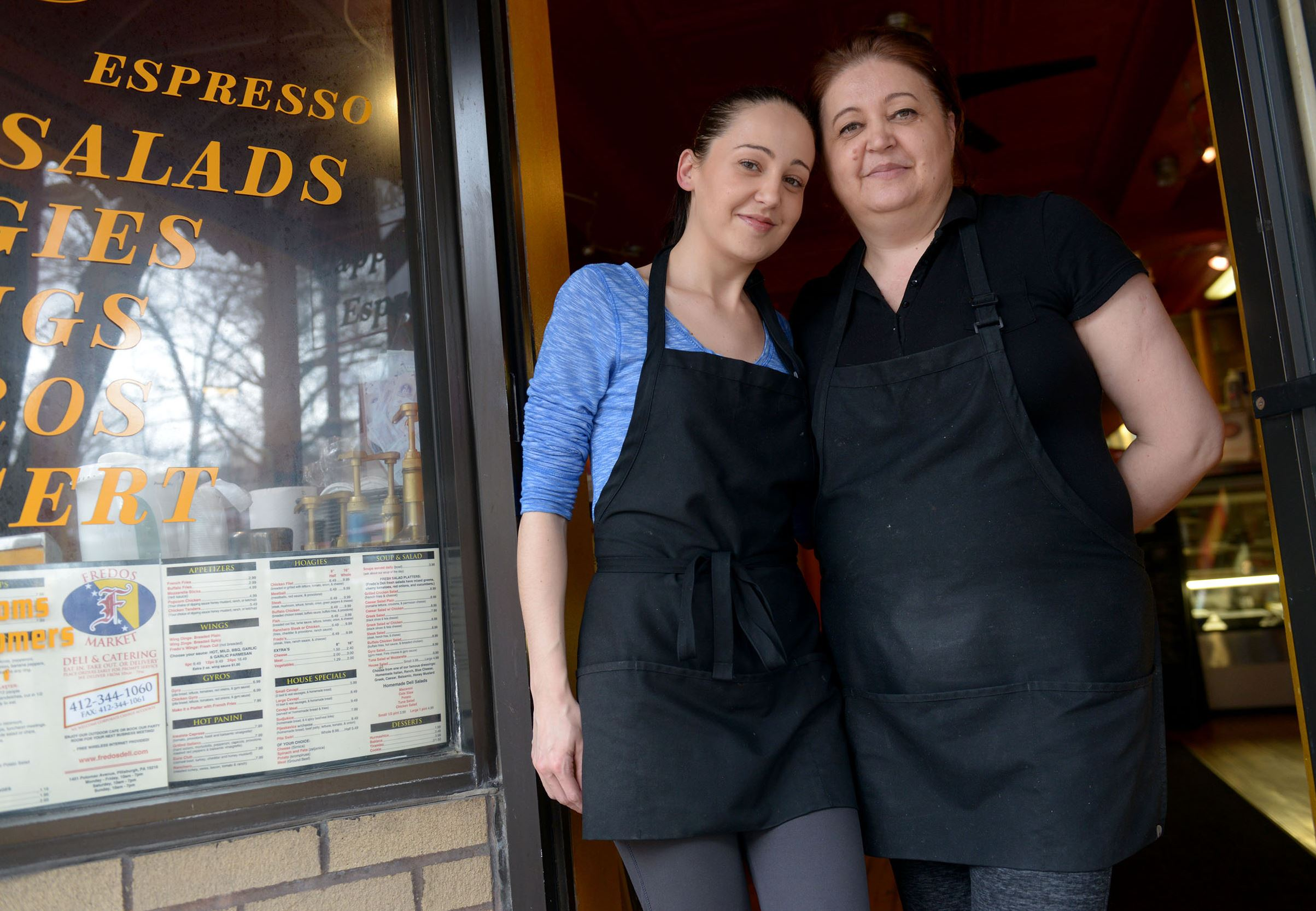 20150403ppTABLE0409WKNMAG8 Sandra Cehic and her mother, Mediha Cehic, are the owners of Fredos Market, Deli & Catering in Dormont.