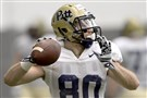 Pitt's Zach Challingsworth passes during spring practice Tuesday on the South Side.