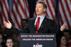 U.S. Sen. Rand Paul, R-Ky., formally announces his candidacy for president during an event Tuesday in Louisville.