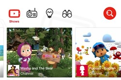 The YouTube kids app is for tablets and smartphones and is geared to kids ages 5 and younger.