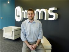 Damon Claus, director of international sales at 4Moms, in its Downtown offices.