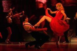 "Samuel Pergande as Johnny and Jenny Winton as Penny in the tour of ""Dirty Dancing"" playing the Benedum Center in April."
