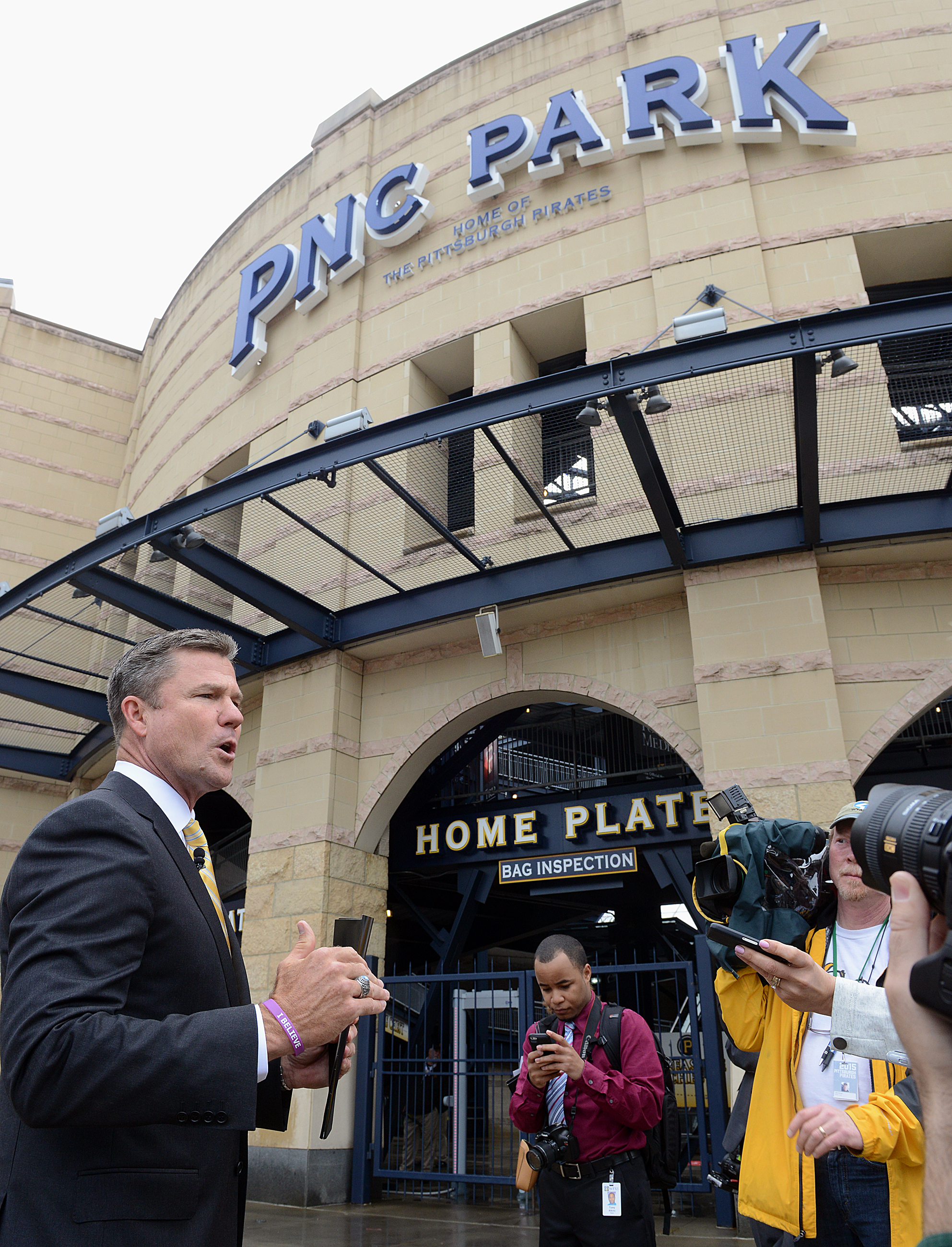 20150409radPNCParkLocal01 Pirates President Frank Coonelly welcomes media members for a preseason tour of the changes at PNC Park.