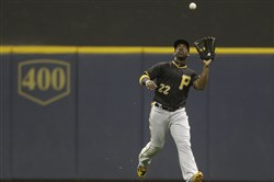 Andrew McCutchen left Friday night's game at Milwaukee early, and chose to sit out Saturday night.