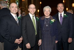 From left, Honorees Michael Shullo, Colin Wrabley, Sister Jean Augustine and Ralph Finizio .