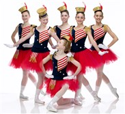 "Pittsburgh Youth Ballet students in George Balanchine's ""Stars & Stripes."""