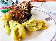 It's artichoke season in Rome, says Elizabeeth Minchilli.  The season lasts through May.  Locals eat them deep-fried and braised, or served in lasagna and risotto.