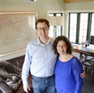 Jeff and Laura Young of Mt. Lebanon are runners-up in the small residential category of the Post-Gazette's Renovation Inspiration Contest for a den they created in an old side porch.