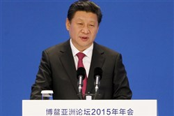 Chinese President Xi Jinping speaks at the Boao Forum for Asia.