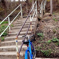 "The Joncaire Street steps are ""an important [link] from Junction Hollow [trail] to the central campus"" of Pitt, said Pat Hassett of city's Department of Public Works."