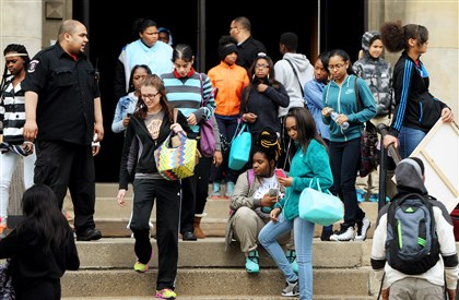 Wilkinsburg High students are dismissed on Friday.