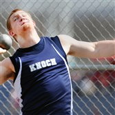 Knoch's Jordan Geist is one of the top shot putters in the country ... indoor or outdoor.