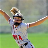 West Allegheny's Marla Kirkpatrick delivers a pitch during the WPIAL Section 2-AAA softball game against Montour last Saturday at West Allegheny High School.