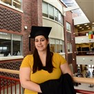 Carlow University student Danah Richter, who is deaf, will be graduating with an undergraduate degree in social work. She plans to help people with hearing disabilities bridge both worlds.