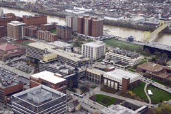 The campus of Duquesne University.