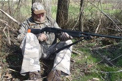 The Successful Turkey Hunting workshop covers the basics and provides details that may be new to veteran turkey hunters. Instructor George Sullivan waits for a tom.