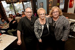 "Del's Bar & Ristorante DelPizzo owners John, Marianne, and their mother, Josephine.  The Food Network's ""Restaurant Impossible"" series used the state-run tax credit program to feature Del's in Bloomfield in 2012.  The restaurant has since closed."