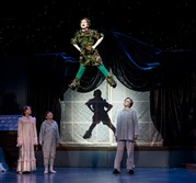 Michelle Coben as Peter Pan with the Darling children -- Jillian Ferguson, Brecken Farrell and Benjamin Godley-Fisher -- in the Pittsburgh Musical Theater production at the Byham Theater.