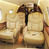 The interior of the Hawker 400.
