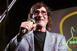 Donnie Iris is inducted into the Pittsburgh  Rock 'N Roll Legends at the Hard Rock Cafe in 2015.