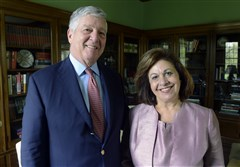 Crown Prince Alexander II and Princess Katherine, of Serbia, visited Pittsburgh at the home of Dr. Robert and Eugenia Friedlander of Shadyside.