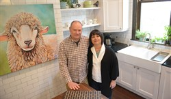 Leslie and Jim Bonner in the kitchen of their Tarentum home. Their home is the runner-up in the Renovation Inspiration Contest.