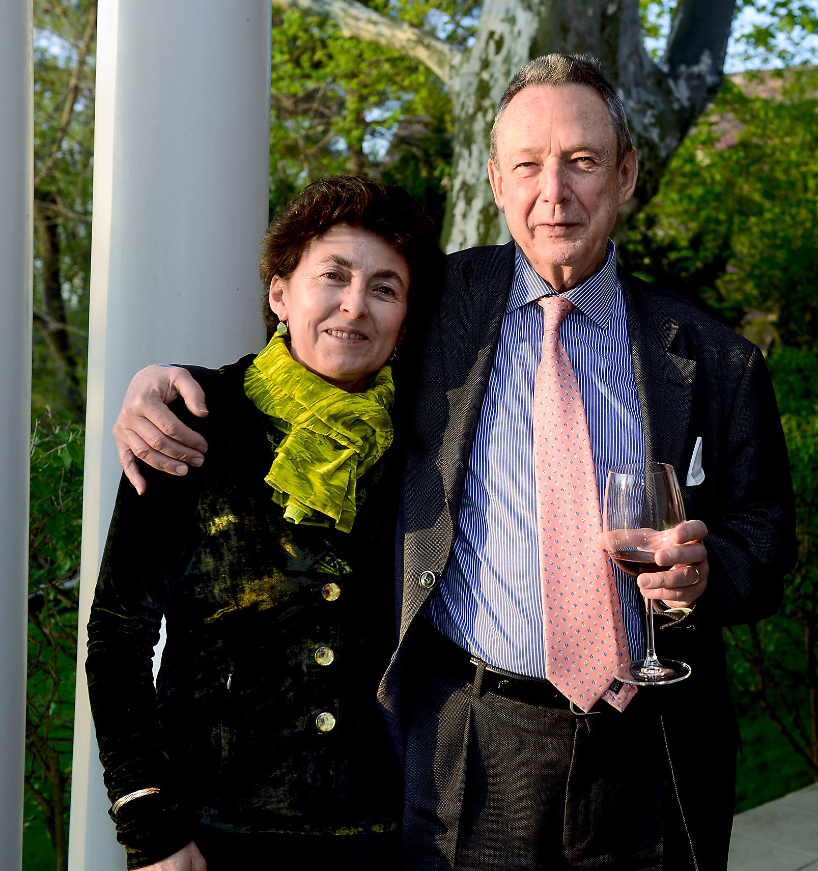 20150424bwPalmaMag04-3 Nicoletta and Gioacchino, the Duchess and Duke of Palma, Sicily, at a reception at the home of Jerome and Patricia Pesenti in Squirrel Hill.