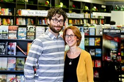Trevor Thomas and Natalie Sacco are the new owners of the Mystery Lovers Bookstore in Oakmont.