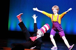 "The Cat in the Hat and Jo-Jo in ""Seussical"" at Avonworth High School."