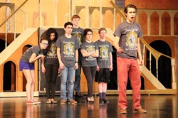 "Hampton High School rehearses ""The Addams Family,"" the school's 2015 spring musical."