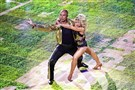 Former Steeler Hines Ward and Emma Slater whirl through an anniversary special dance on ABC's 'Dancing With The Stars.""