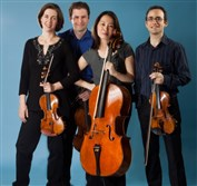 Brentano String Quartet: violinist Serena Canin (left), violist Misha Amory, cellist Nina Lee and  violinist Mark Steinberg.