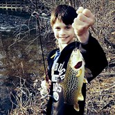 Research into stocked trout residency led to changes in management practices. Above, Jacob Currie, 13, of Plum caught this 14-inch brown trout at Bull Creek in Allegheny County.