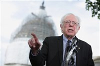 U.S. Sen. Bernard Sanders, I-Vt., speaks on his agenda for America Thursday during a news conference on Capitol Hill in Washington, D.C.