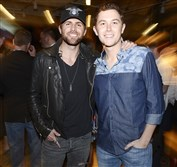 Canaan Smith, left and Scotty McCreery.