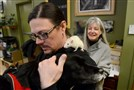 Nina Wolf and Jason Barkley, co-owners of Animal Nature, a natural foods pet store in Regent Square, show off some of their pets.