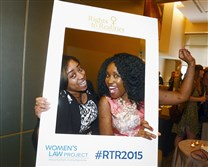 Shaina Walker, left, and Lachelle Binion at the Rights to Realities: Women's Health and Equality event.