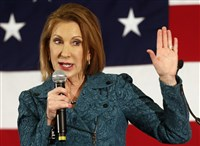 Carly Fiorina speaks at the Republican Leadership Summit in Nashua, N.H., on April 18. She is the second woman to enter the presidential race this year.