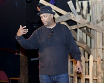 "Mark Clayton Southers walks through a scene during a dress rehearsal in May for a production of August Wilson's ""Fences."""