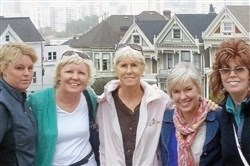 Kelly Vanek, from left, Marci Cosens, Beth Mueller, Brandi Darr and Amy Donia will embark on a bike and hike to celebrate cancer survival, honor their mother and promote healthy eating.