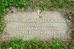 James Grove Fulton's military marker.