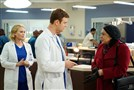 "From left, Laurie Holden as Dr. Hannah Tramble, Nick Gelfuss as Dr. Will Halstead, S. Epatha Merkerson as Sharon Goodwin in NBC's ""Chicago Med."""