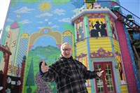 Randyland, the Mexican War Streets home of Randy Gilson, features colorful murals and street art.