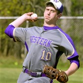 Western Beaver starting pitcher Adam Brozich delivers against Aliquippa in a game last week.