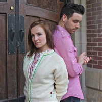 "Erin Lindsey Krom and David Toole tell their romance from different perspectives in Front Porch Theatricals production of ""The Last Five Years"" at New Hazlett Theater."