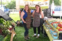 It took two, Ellen Baird and Sarah Baehr, to sell all the great produce from One Woman Farm at last year's Ligonier Country Market.